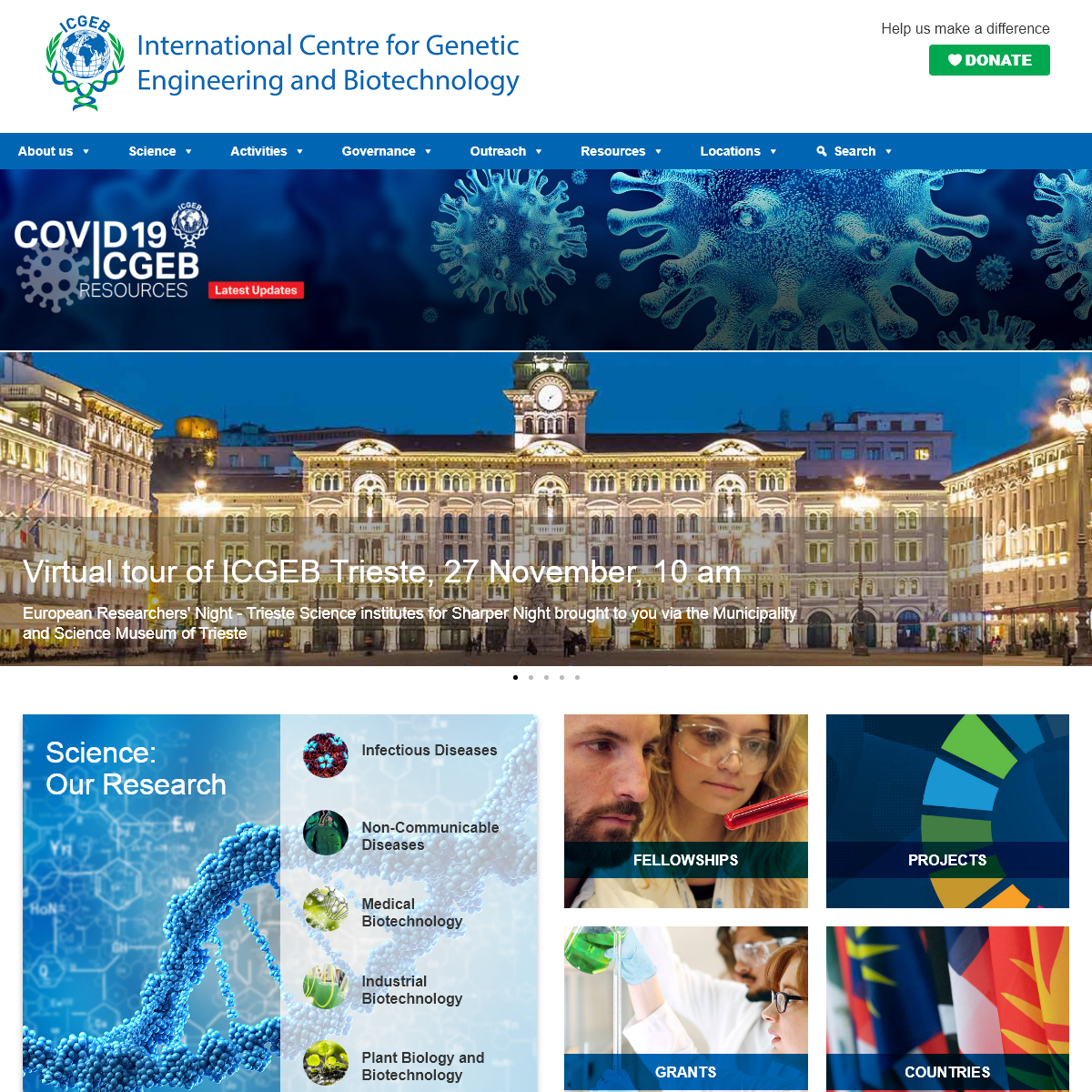 ICGEB International Centre for Genetic Engineering and Biotechnology