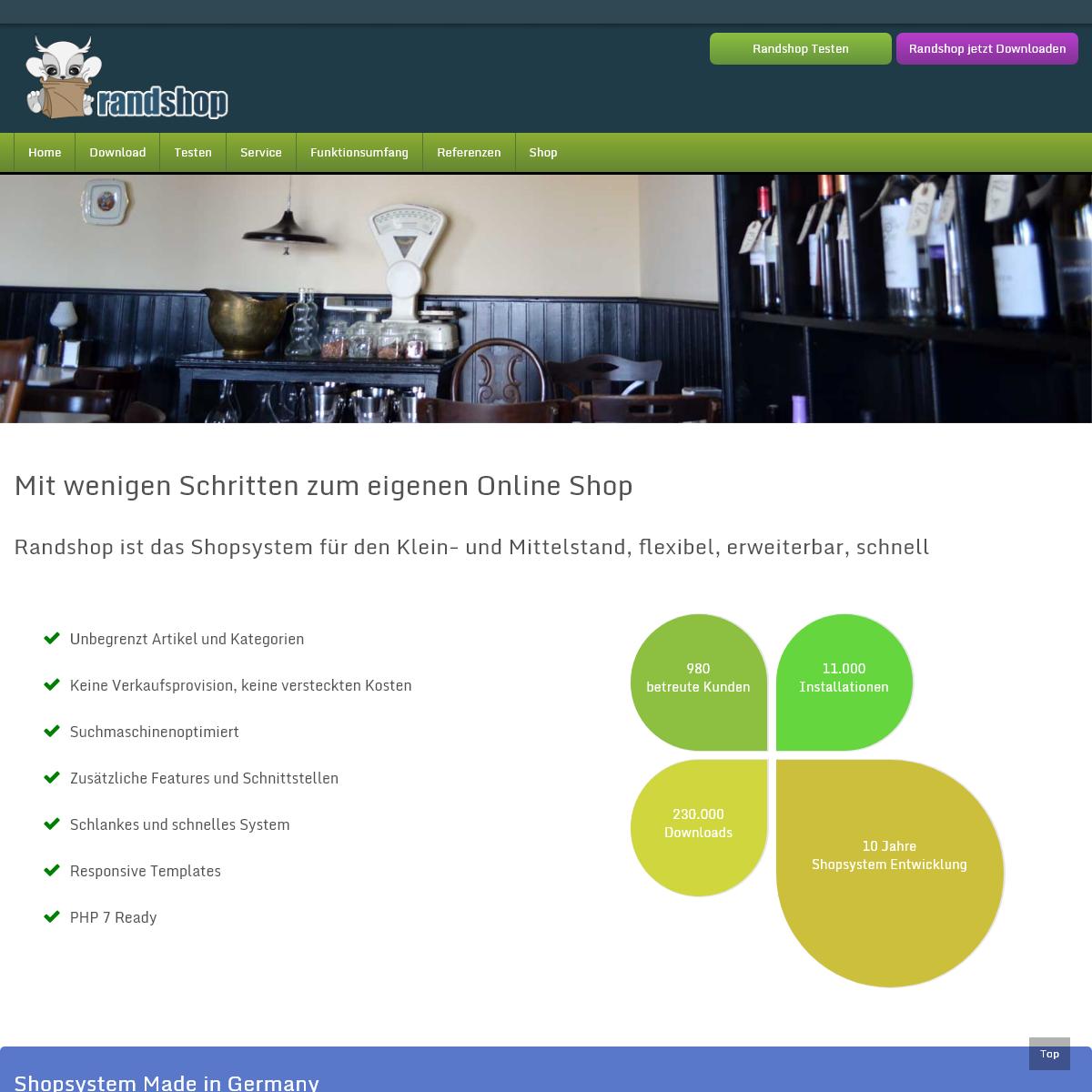 Shopsystem Randshop - Das kostenlose Shopsystem für den Klein- und Mittelstand - Randshop - Shopsystem, ein Produkt von Die Ran