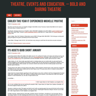 Theatre, Events and Education. – Bold and Daring Theatre