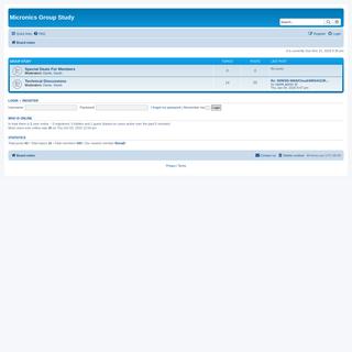 Micronics Group Study - Index page