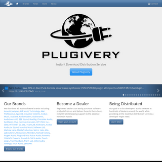Plugivery - Audio Software & Plug-Ins Distribution