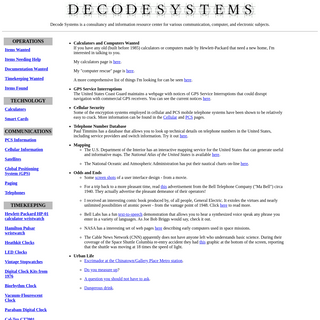Decode Systems