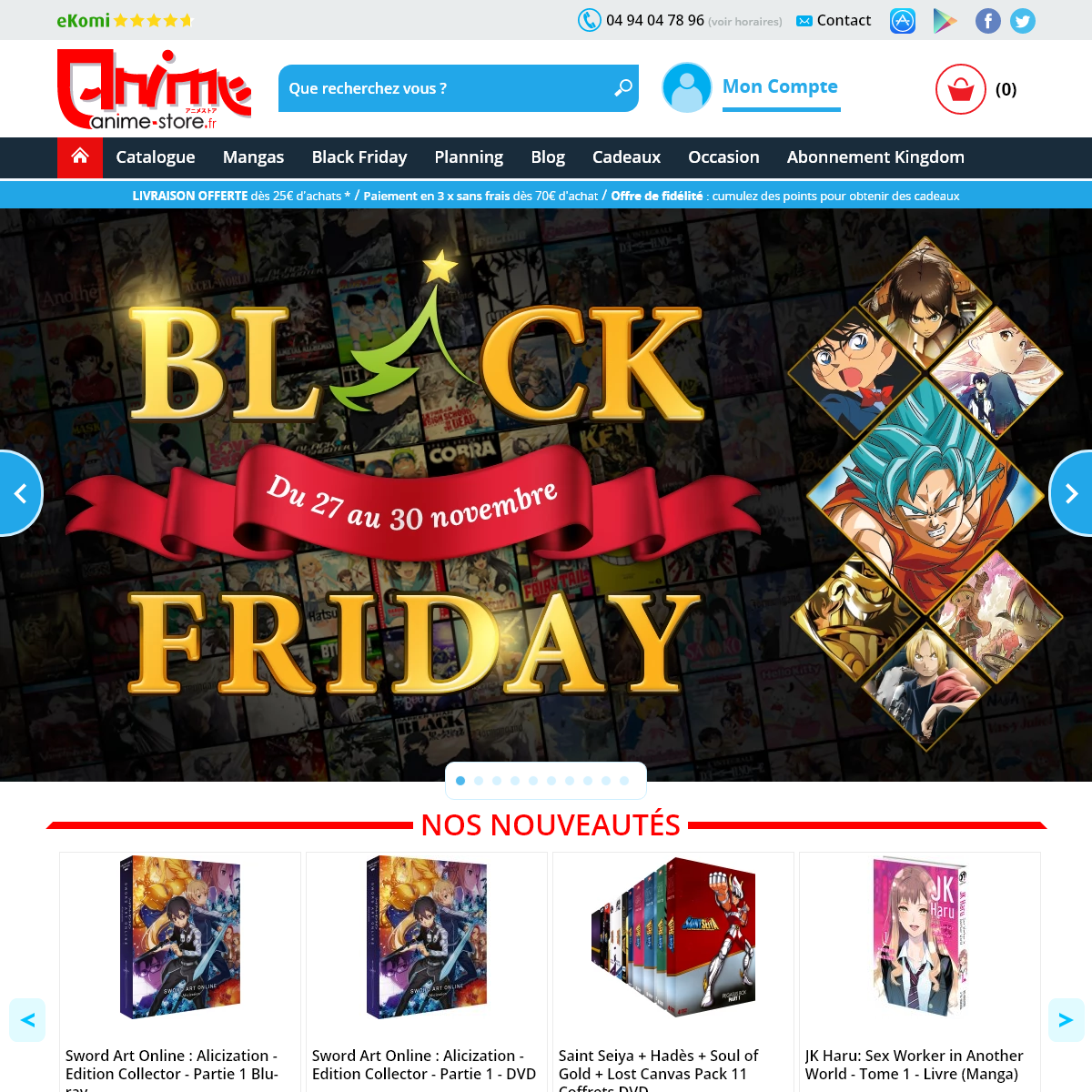 Anime-Store.fr - DVD, Blu-Ray, Manga - Le meilleur de l`animation et du Manga dans notre boutique en ligne