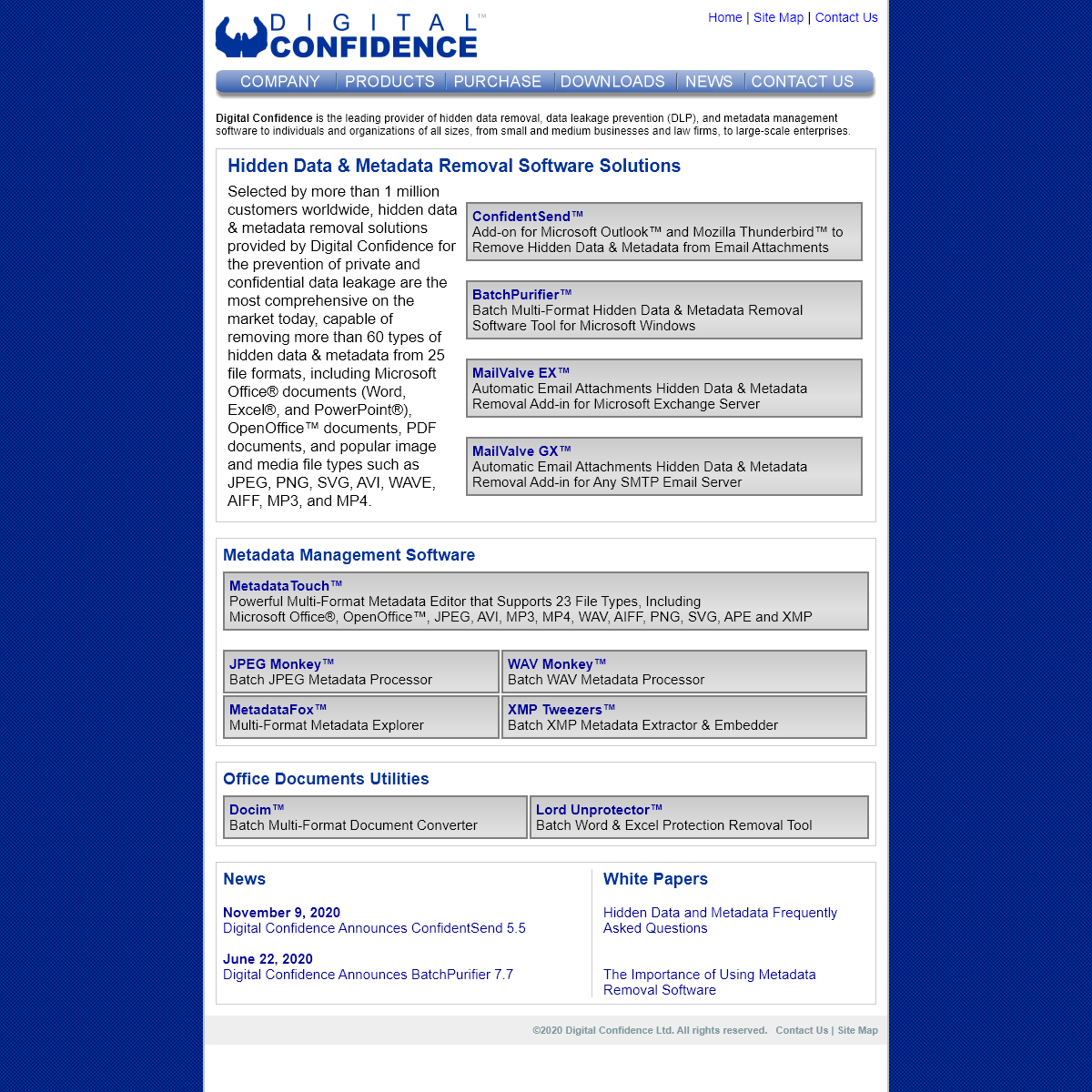Digital Confidence - Hidden Data Removal and Metadata Management