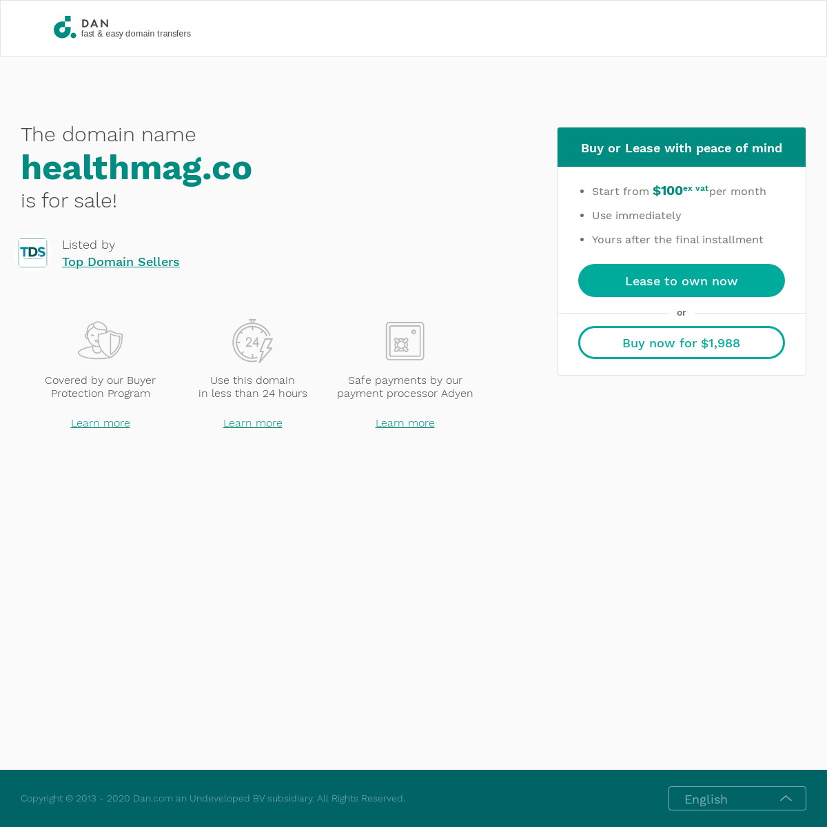 The domain name healthmag.co is for sale