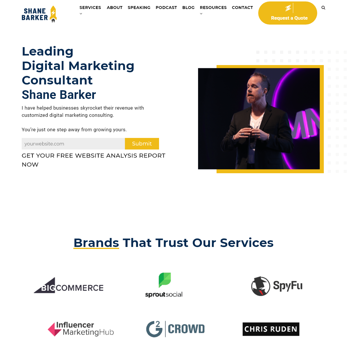 Digital Marketing Consultant - Boost your revenue with help of Shane Barker
