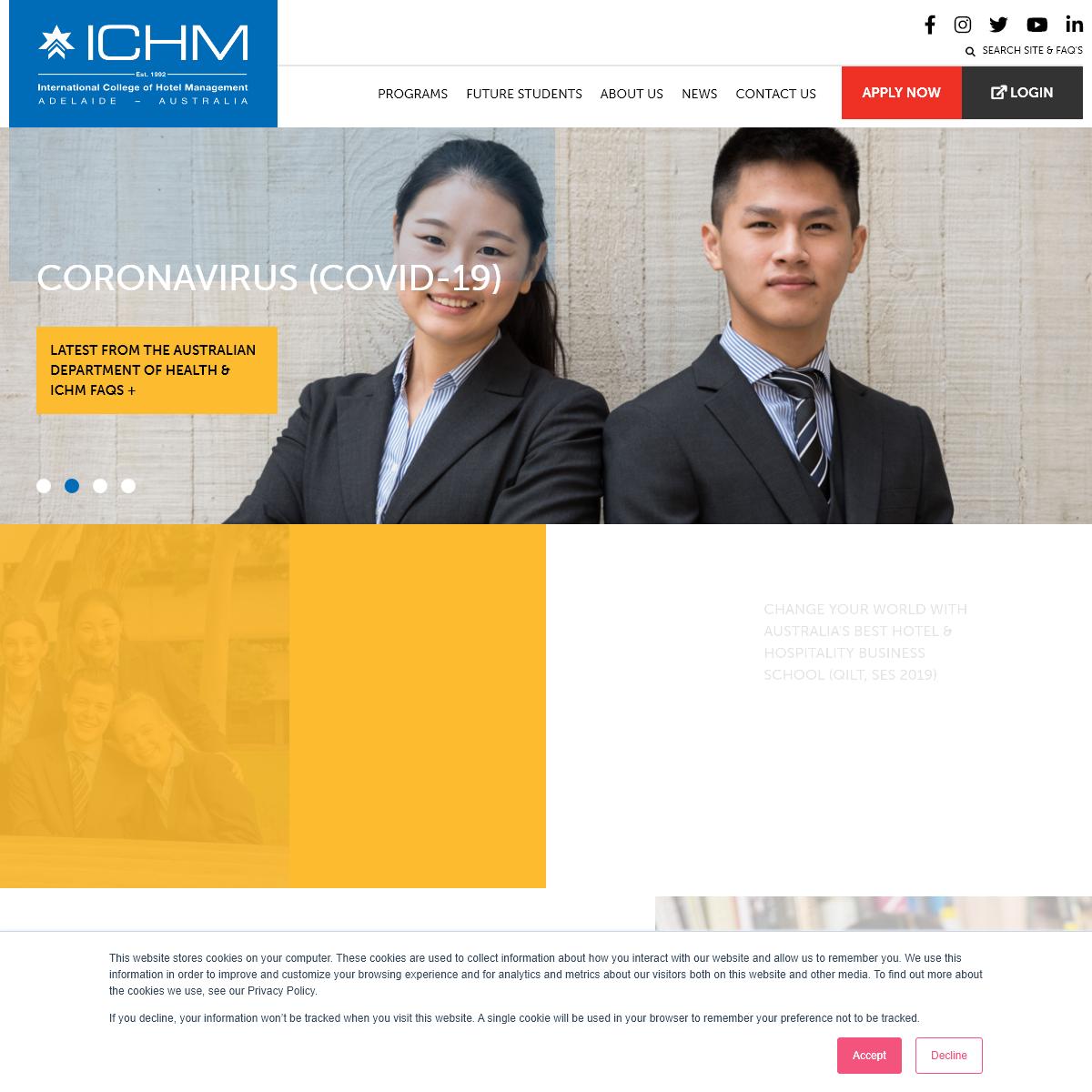 Study In Adelaide - Australia's Best Hotel Management School - ICHM