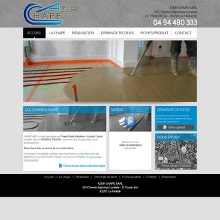 Azur Chape - Chape Fluide Anhydrite et Liquide Ciment - Toulon Var