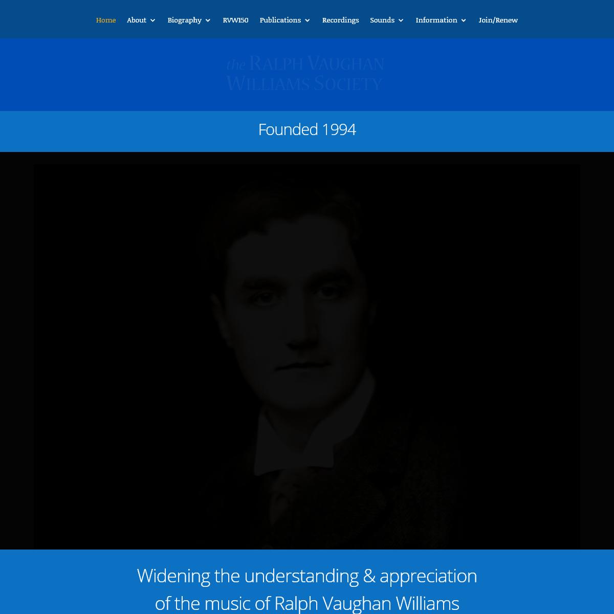 Ralph Vaughan Williams Society - Ralph Vaughan Williams Society