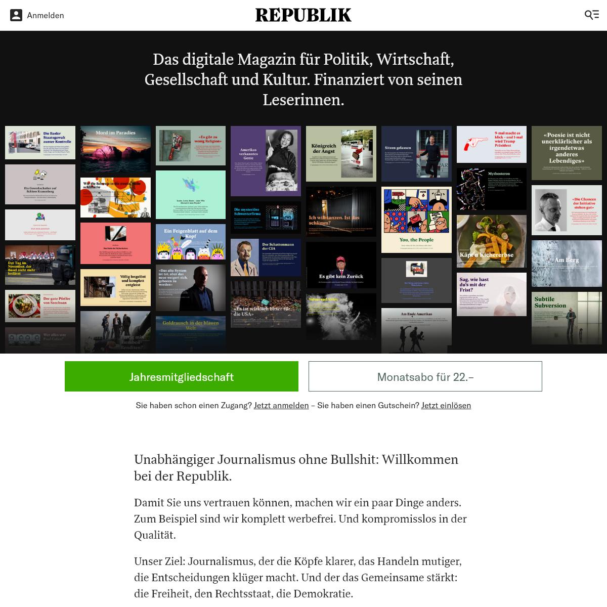 Republik – das digitale Magazin