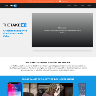 TheTake.ai - Image & Video Recognition Technology