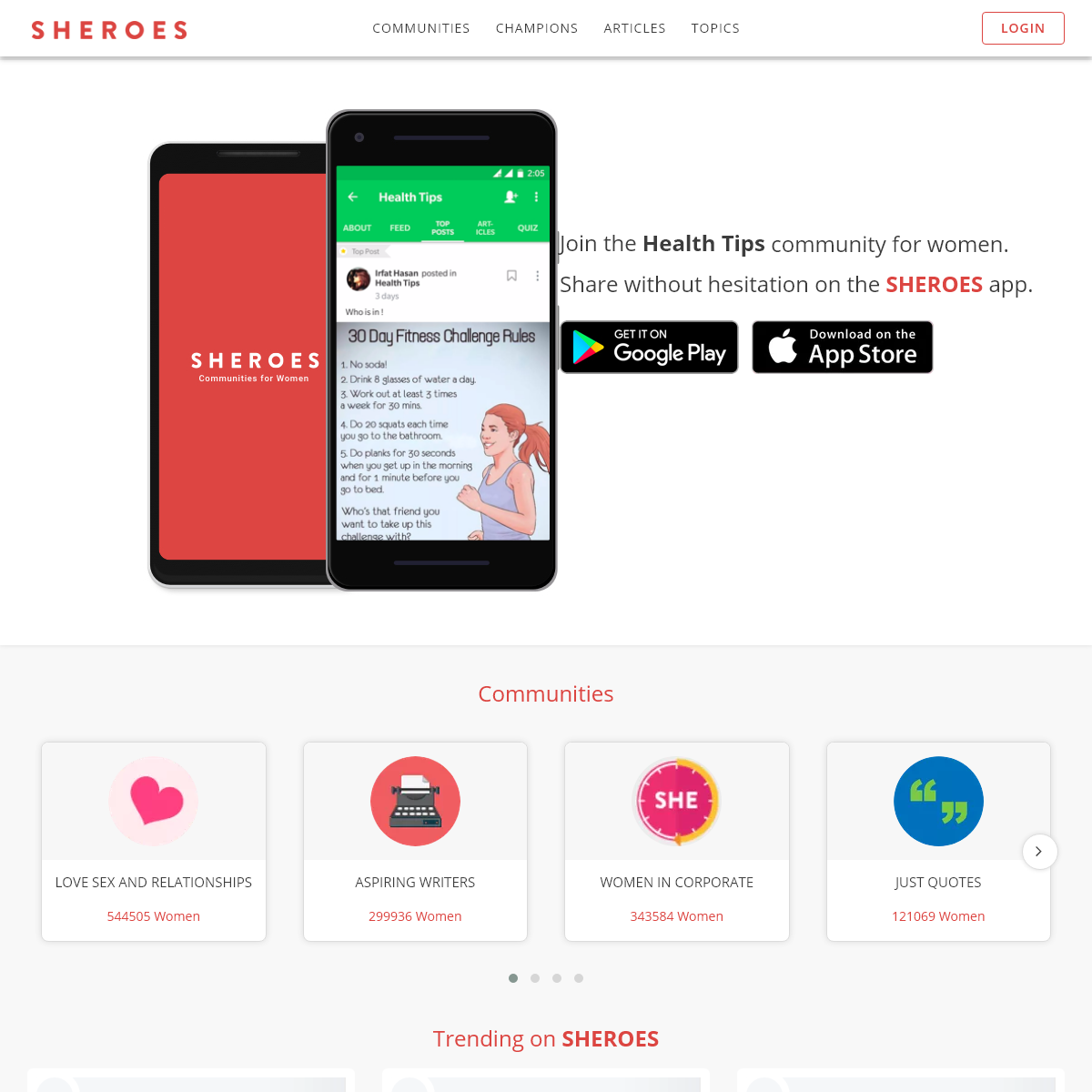 SHEROES - The Women Only Social Network