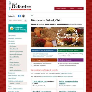 City of Oxford, Ohio - Home of Miami University