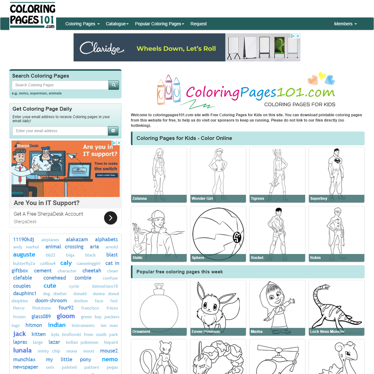 Coloring pages for kids - Printable Coloring Pages