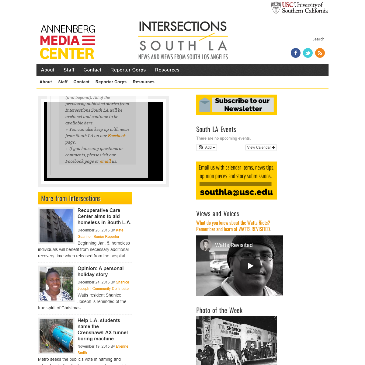Intersections South LA — News and views from South Los Angeles