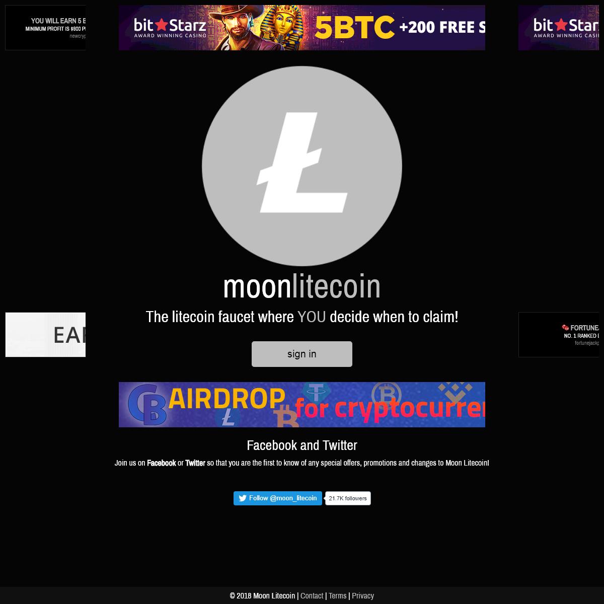 Moon Litecoin - Free litecoin faucet