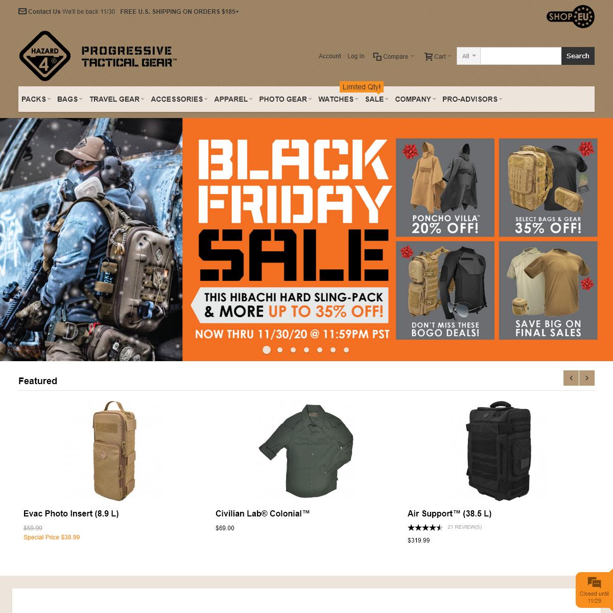 Tactical Gear - Travel Packs - Bags - Apparel - Hazard 4®