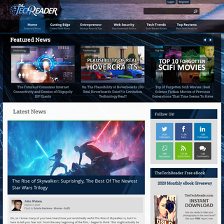 The TechReader - News For Technology, Reviews, Games, Movies, Cars, Gear and More