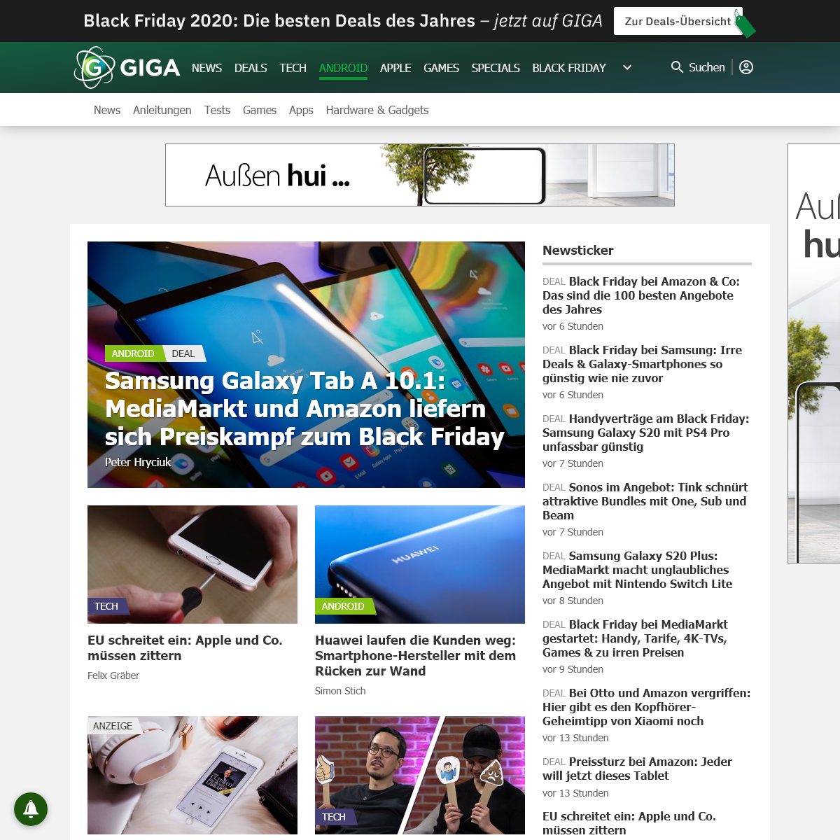 GIGA ANDROID - News, Deals, Tests & Tipps