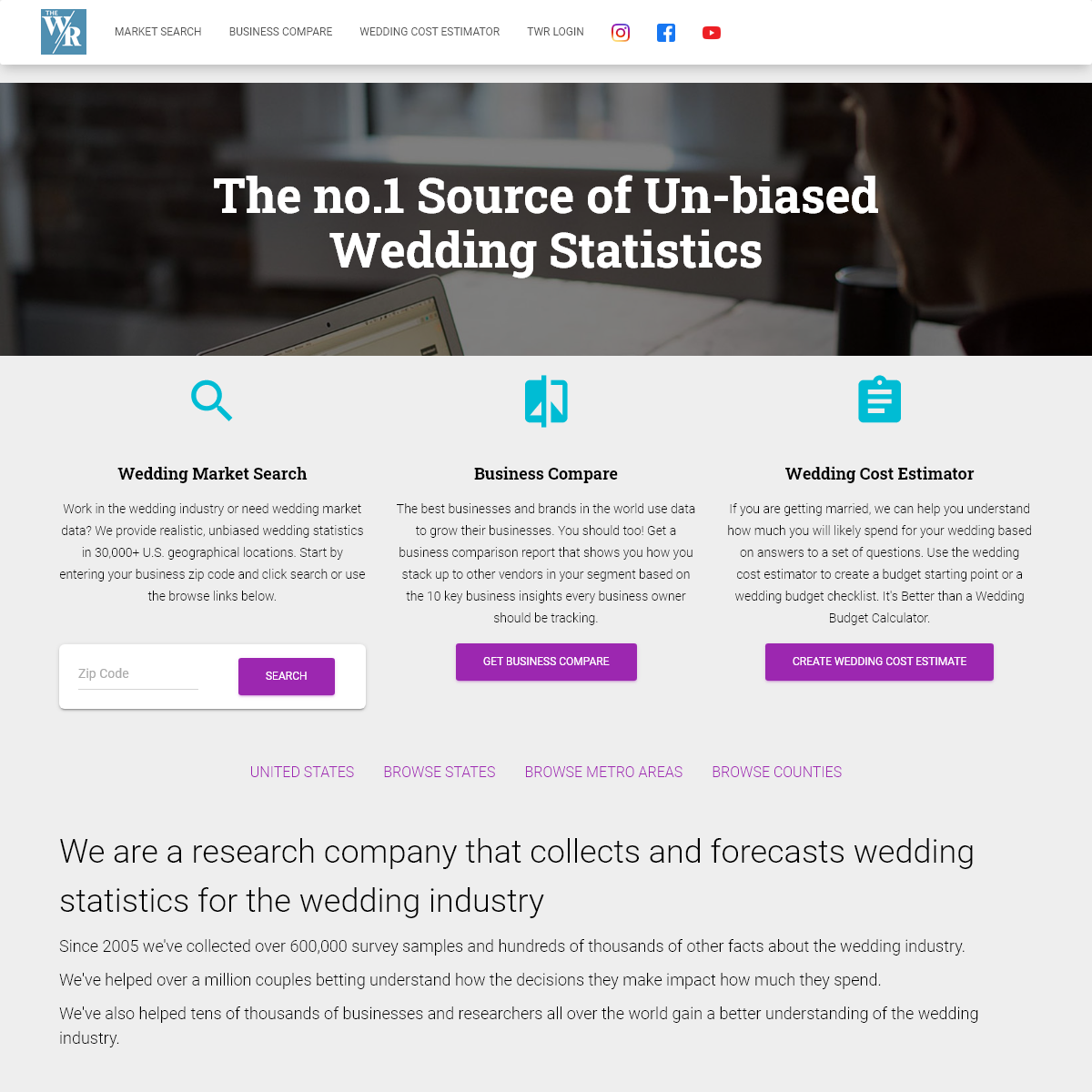 The Wedding Report - Wedding Statistics and Unbiased Market Research for the Wedding Industry