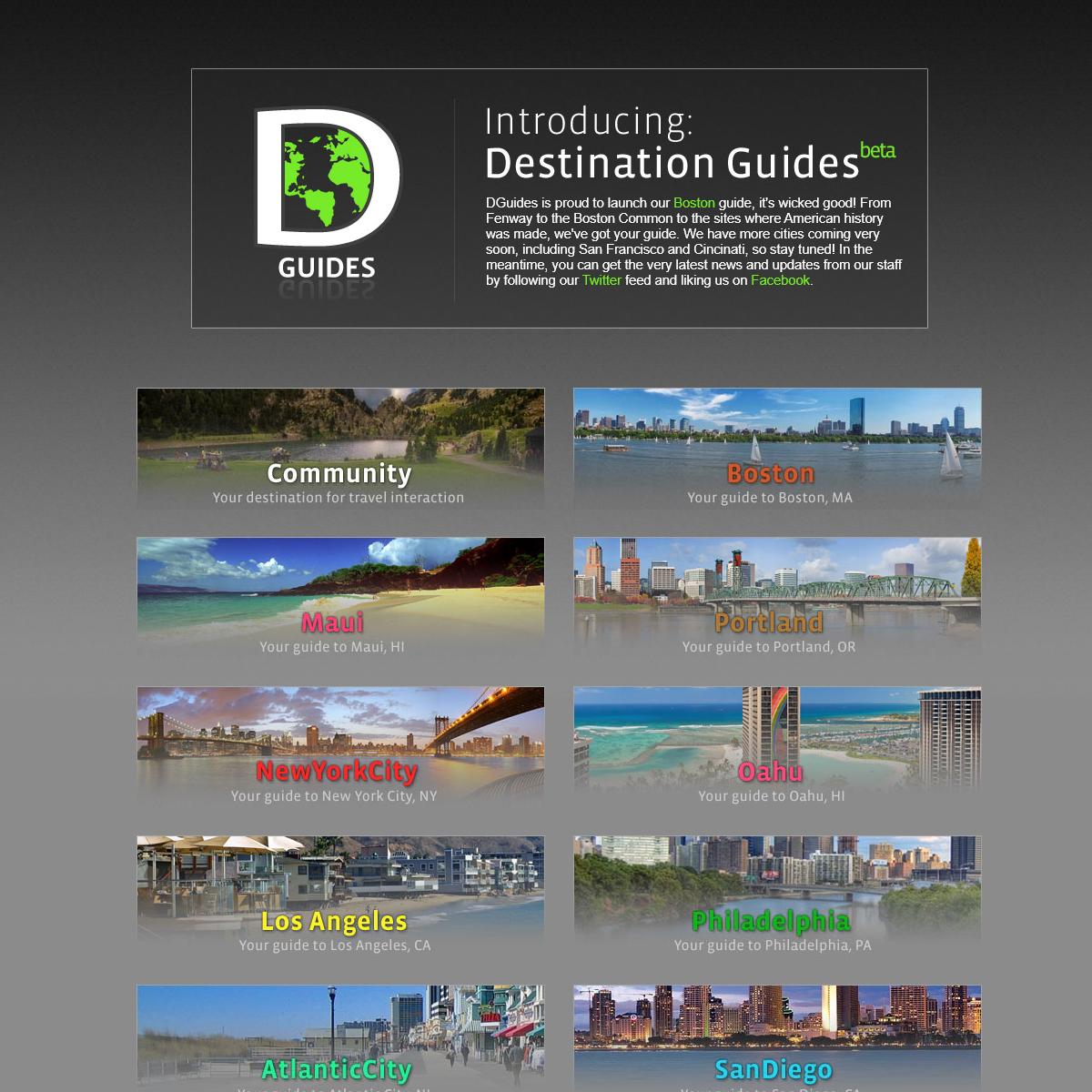 Destination Guides - Let us be your guide