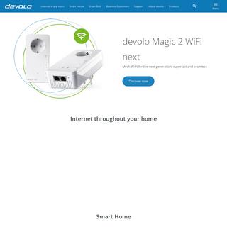 Internet anywhere - devolo cures weak Wi-Fi - devolo AG