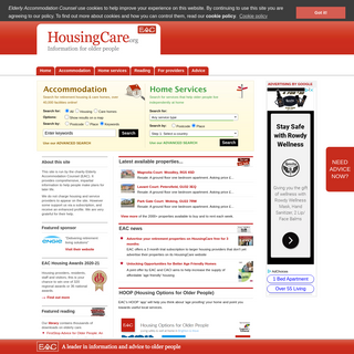 Care homes, retirement property and elderly home care - UK