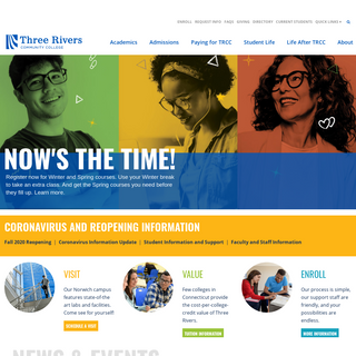 Three Rivers Community College – Your College. Your Future.