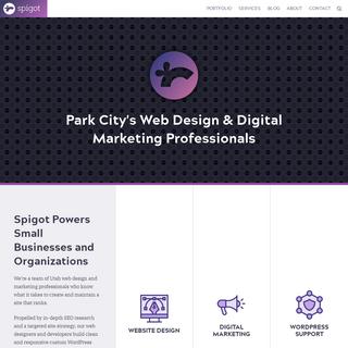 Web Design and Digital Marketing from Park City, Utah - Spigot Design