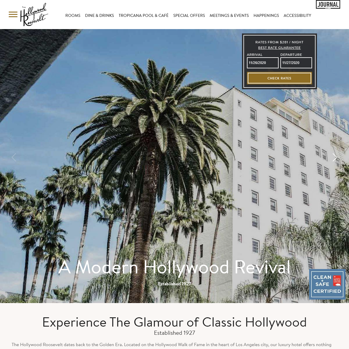 The Hollywood Roosevelt - Luxury Hotel in Hollywood