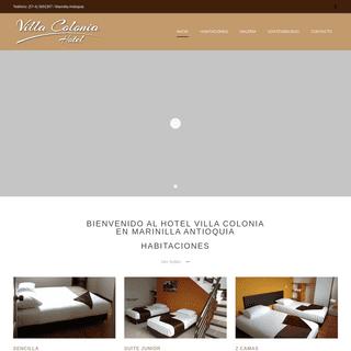 Hotel Villa Colonia - Reserva habitaciones en Marinilla Antioquia