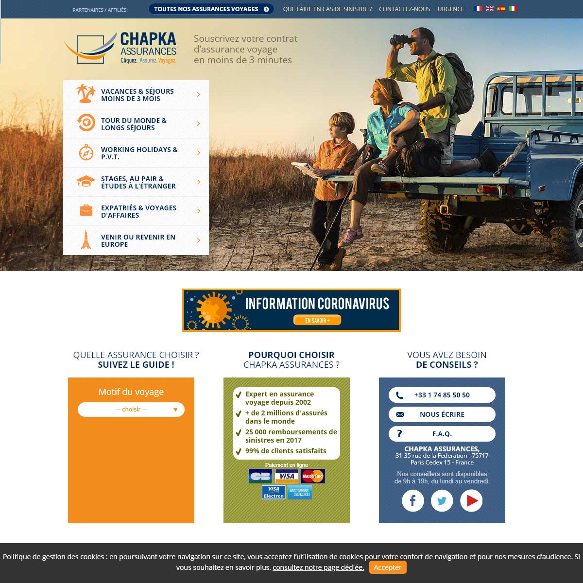 Chapka Assurances - Expert de l`Assurance Voyage En Ligne