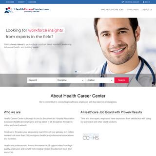 Healthcare Jobs & Medical Careers - Health Career Center