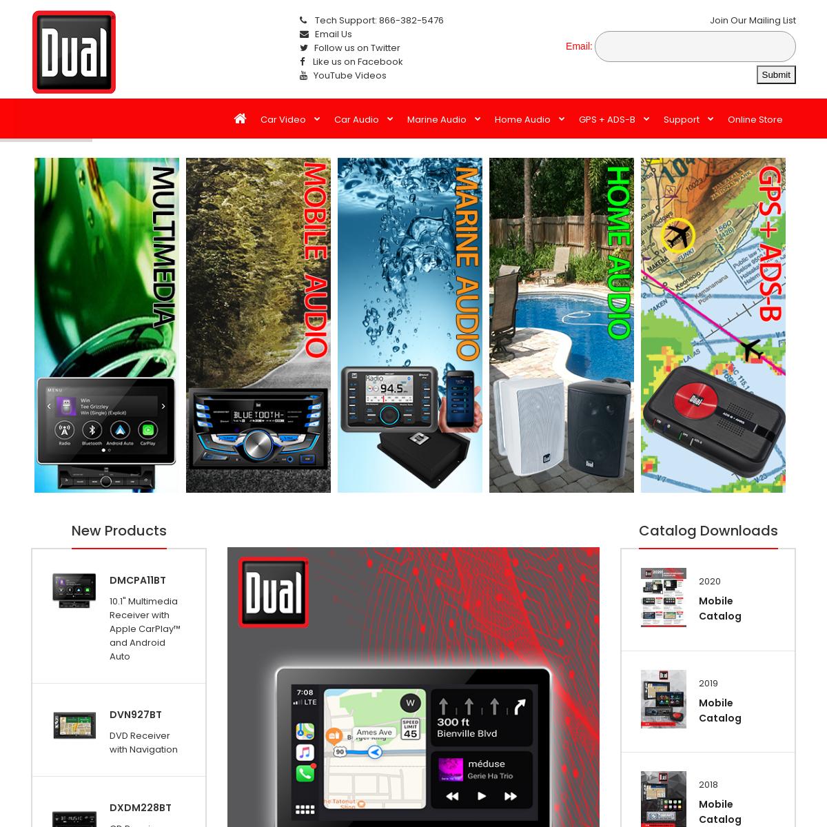 Car Audio - Multimedia - Marine Audio - Home Audio - Bluetooth Speakers l GPS l Head-Up Display from Dual Electronics