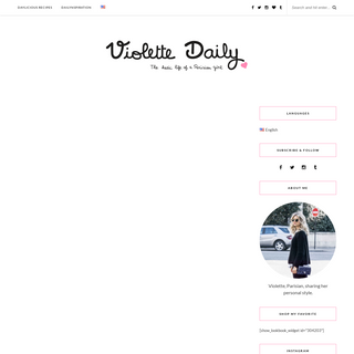 Violette Daily - The Hectic Life of a Parisian Girl