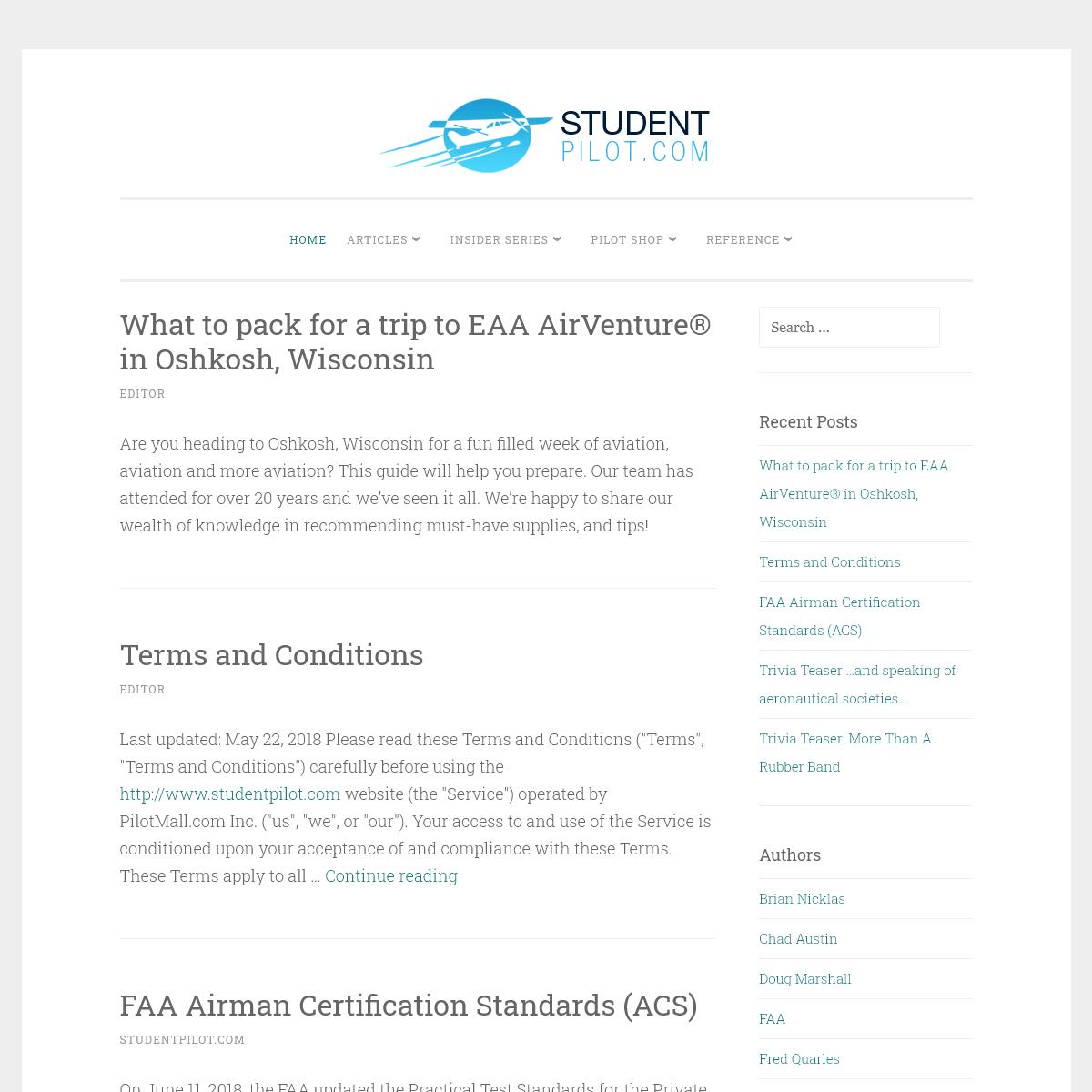 StudentPilot.com - Interactive Flight Training Online