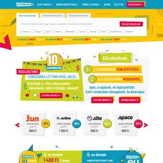 DomDom - Domain regisztráció, honlapkészítés és tárhely bérlés