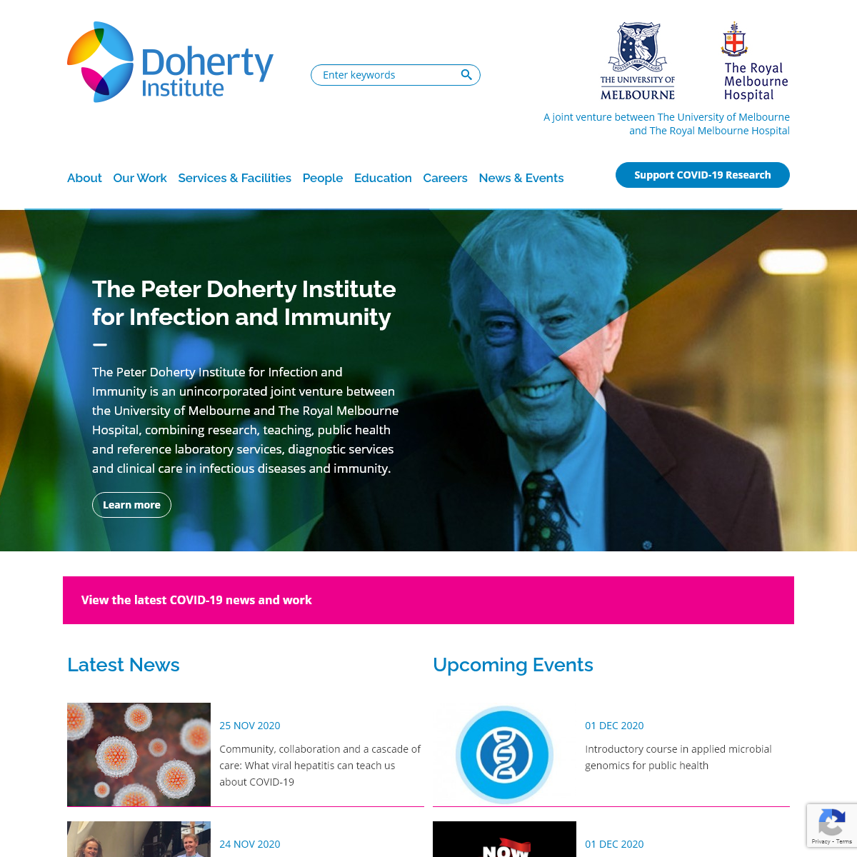 The Peter Doherty Institute for Infection and Immunity - Doherty Website
