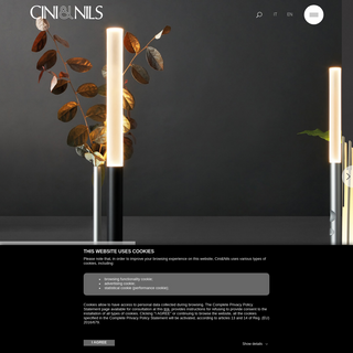Homepage- Cini&Nils designs high quality lamps since 1969