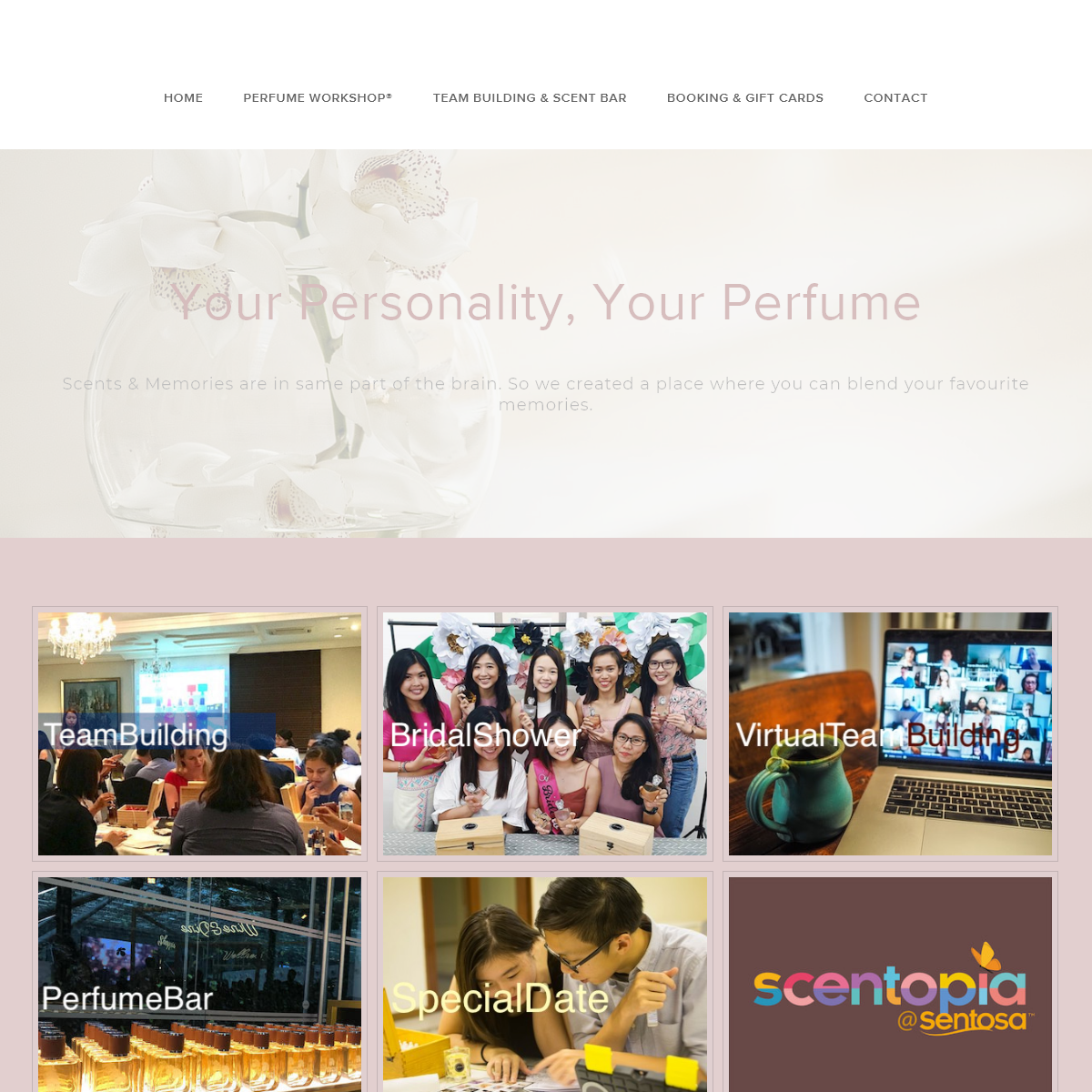 Where to make customised perfume for Bridal, corporate team building & couple singapore