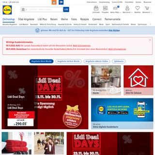 Lidl Onlineshop - Über 30.000 Produkte online bestellen - Lidl lohnt sich