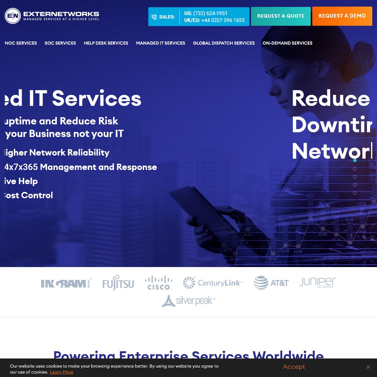 Managed Service Provider - NOC & Help Desk Services - ExterNetworks