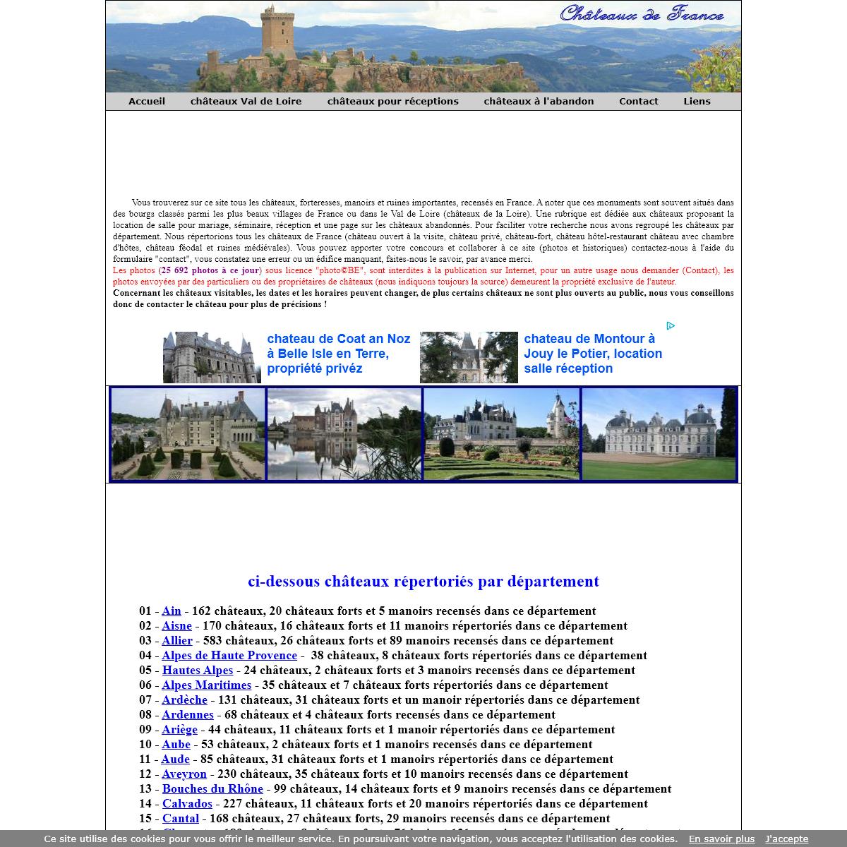 tous les chateaux en France, chateau ouvert au public et privé