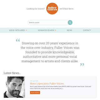 Fuller Voices – Looking for voices- We`ll find them