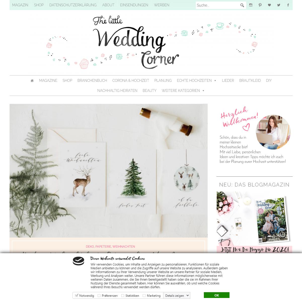 Hochzeitsblog The Little Wedding Corner - Kreativer Hochzeitsblog