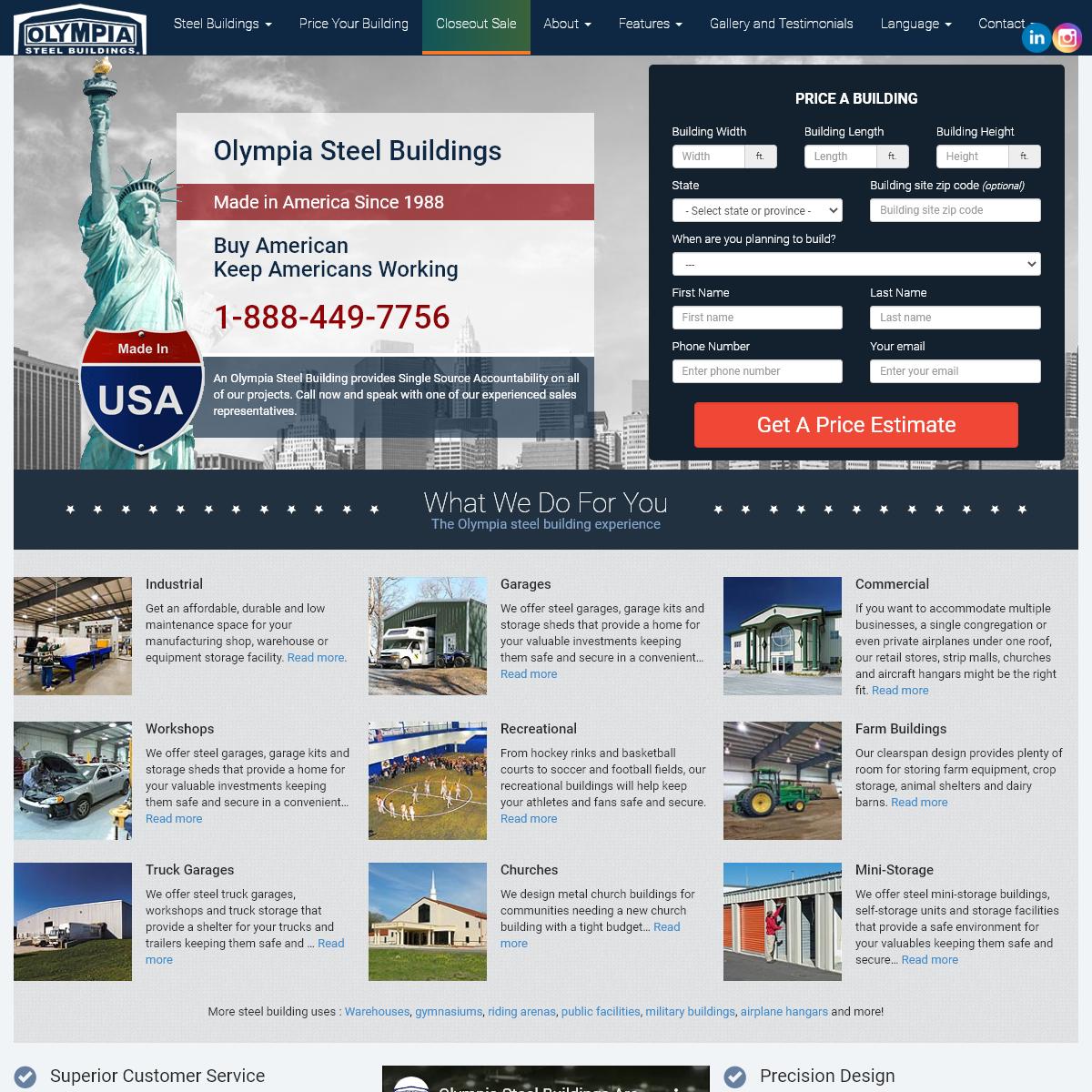 Steel Buildings - Best Prices - Olympia Steel Buildings