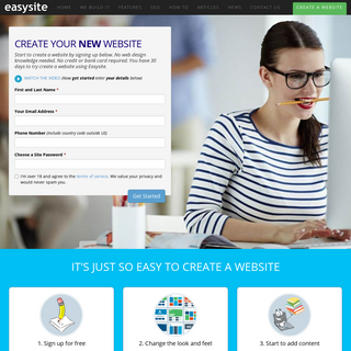 Create A Website - How To Make Your Website Using Easysite