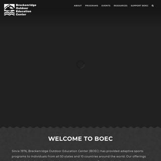 Breckenridge Outdoor Education Center » BOEC