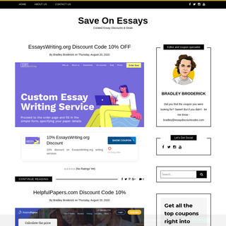Curated Essay Discounts, Coupon Codes & Deals