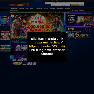 RameBet365 - Agen Liga365 Casino Online Terpercaya